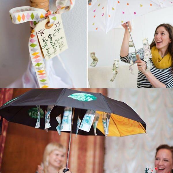 Оригинальное поздравление на свадьбу с зонтиком