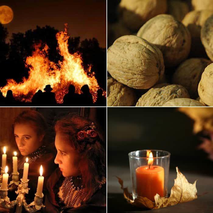 Гадание на Хэллоуин при помощи огня