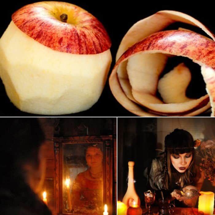 Гадание на яблочной шкурке