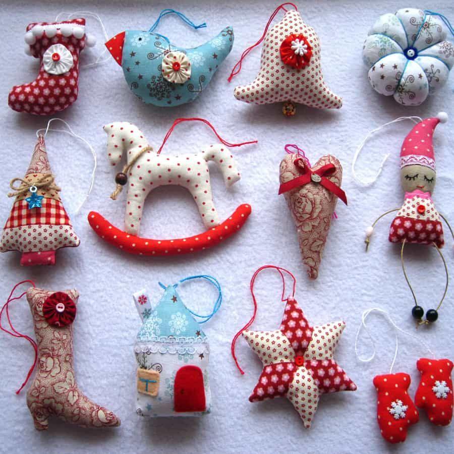 Маленькие елочные игрушки своими руками