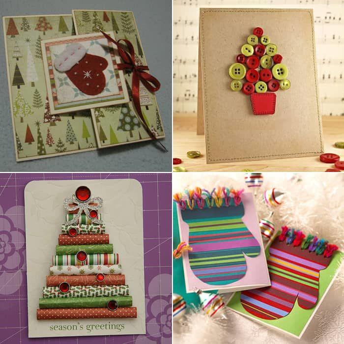 Самодельные открытки на Новый год