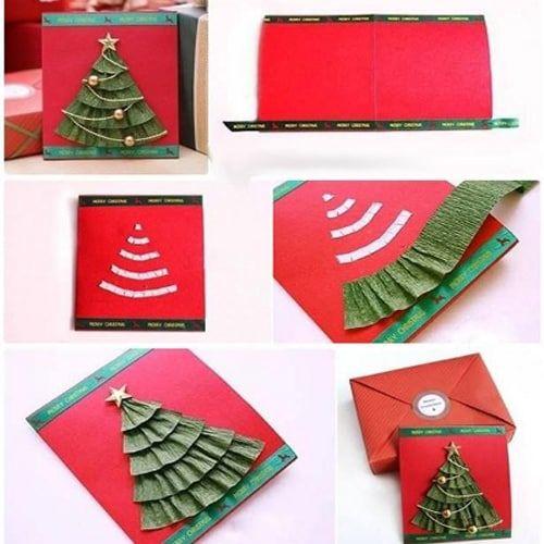 Объемные новогодние открытки Нарядная елка
