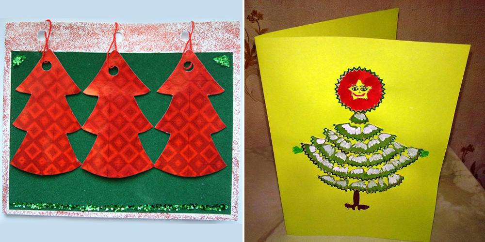 Новогодние открытки для детей