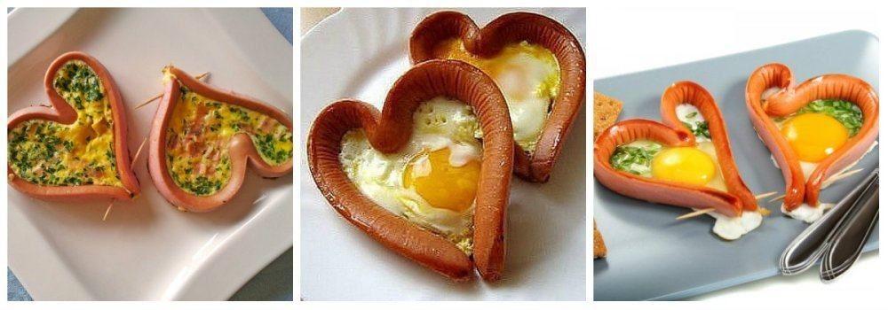 Как сделать яйца сердечки