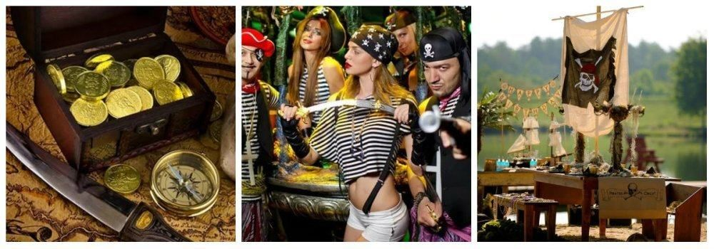 Вечеринка пиратов на природе