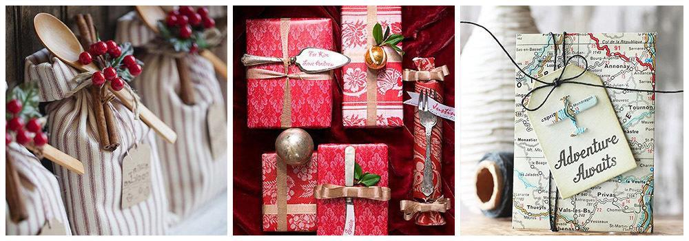 Атрибуты для упаковки подарка на Новый год