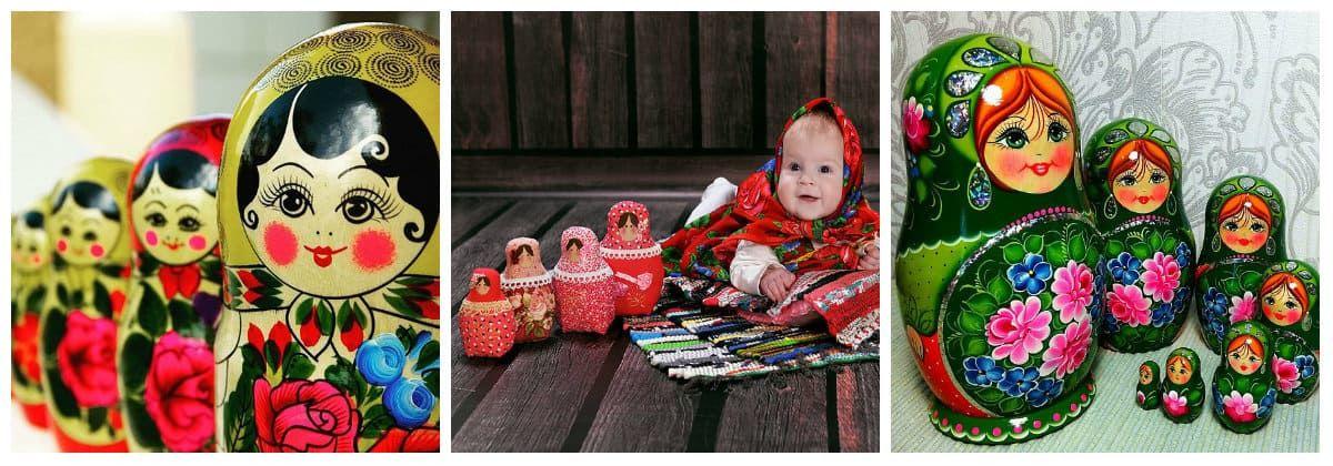 Матрешка в подарок для маленьких детей