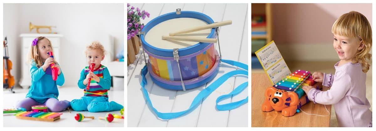 Музыкальные инструменты в подарок для маленьких детей