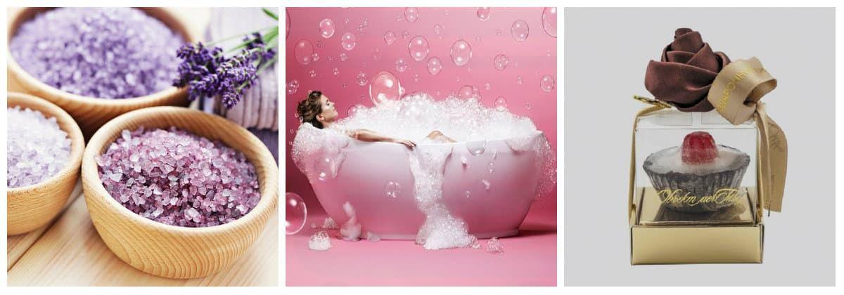 Соль и пена для ванны в подарок
