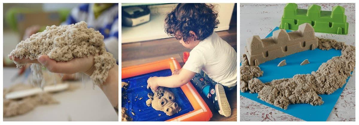 Кинетический песок в подарок для маленьких детей