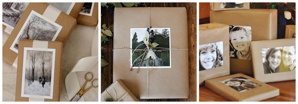 Фотографии для упаковки подарка на Новый год