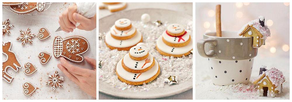 Имбирное печенье для украшения новогодних блюд
