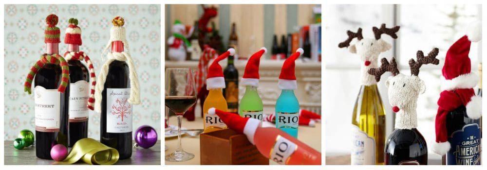 Новогодние шапочки для бутылок