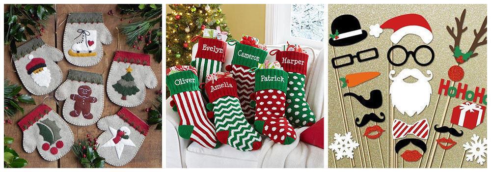 Рождественские носки для упаковки подарка на Новый год