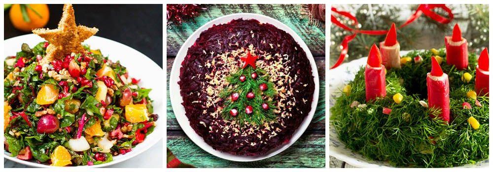 Салат украшение новогодних блюд