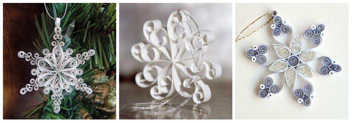 Снежинка из бумаги в технике квиллинг