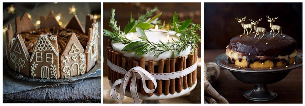 Торт украшение новогодних блюд