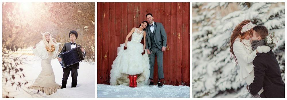Наряд жениха и невесты на зимнюю свадьбу