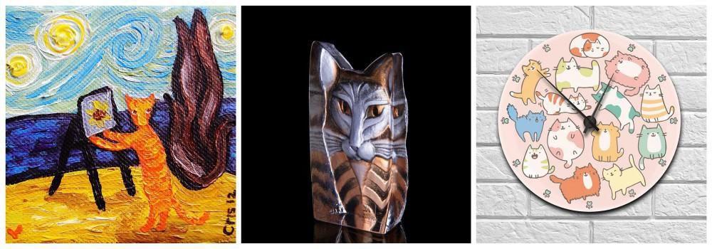 Интерьерные подарки любителю животных на День кошек