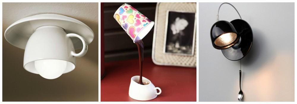 Светильник в виде кофе