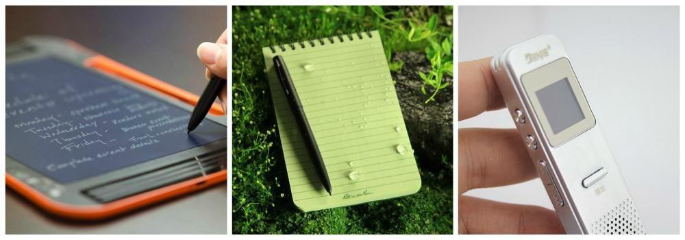 Блокнот и диктофон в подарок писателю