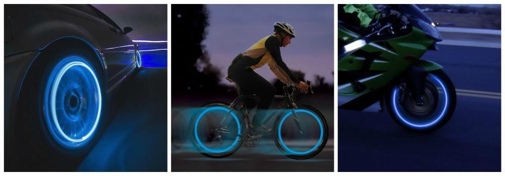 Подсветка для колес в подарок на Всемирный День цвета