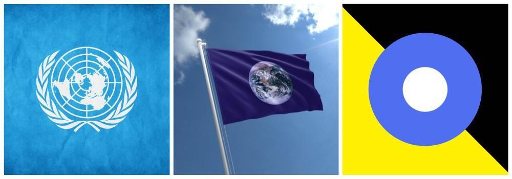 Флаг Земли как символ праздника День Земли
