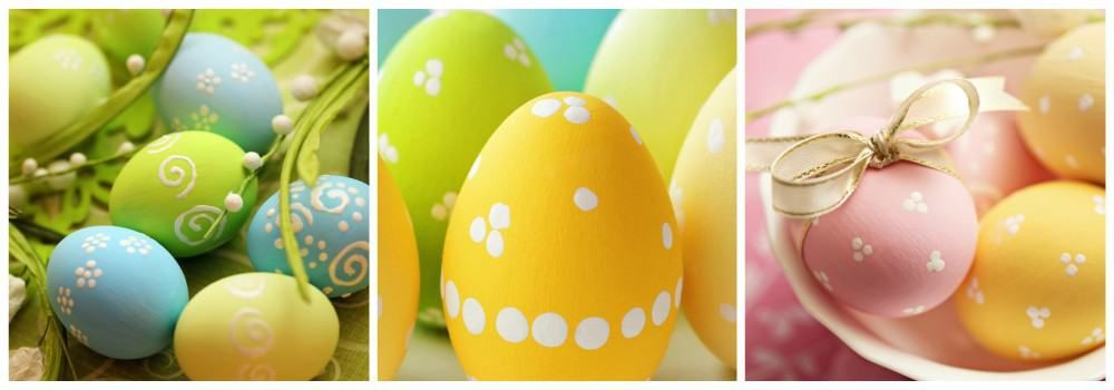 Роспись яиц сахарной пудрой к Пасхе