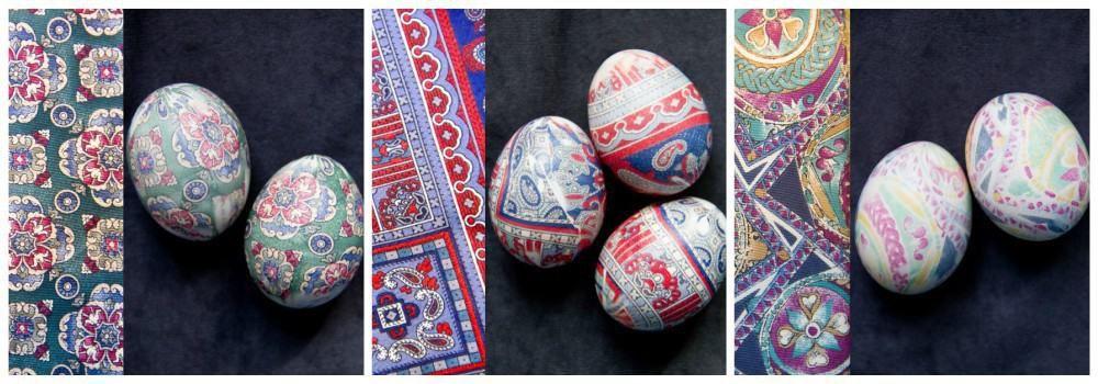Шелковое окрашивание яиц к Пасхе