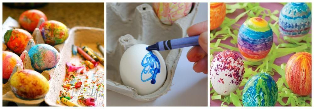Окрашивание яиц восковыми мелками к Пасхе
