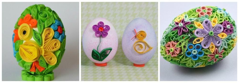 Квиллинг на яйцах к Пасхе