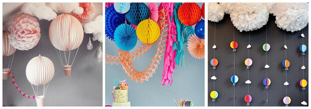 Как украсить комнату ребенка помпонами на день рождения