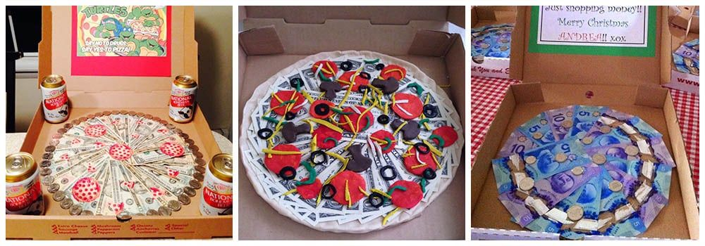 Как подарить пиццу из денег