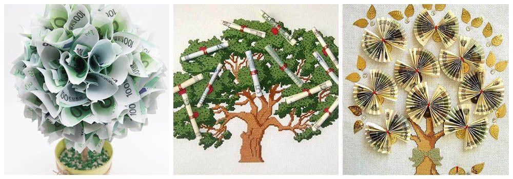 Как подарить дерево с деньгами