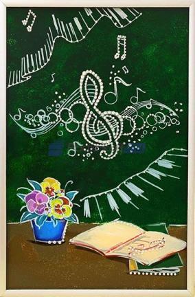 "Картина ""Любителю Музыки"" со стразами Swarovski от 8 000 руб"
