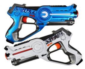 Набор интерактивных пистолетов (бластеров) Ages Gun Agressor (2 шт.) (ИК, Свет, Звук, Вибрация) для лазертага от 2 990 руб
