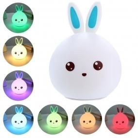 Мягкий силиконовый ночник Кролик Cute Rabbit LED (голубые ушки) от 990 руб