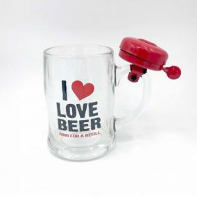 """Кружка пивная со звонком """"I Love Beer"""" от 650 руб"""