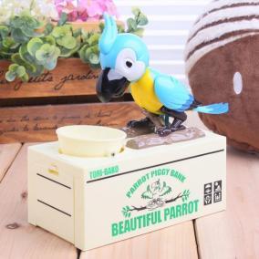 """Копилка """"Попугай"""", голубая от 980 руб"""