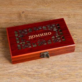 """Настольная игра """"Домино"""" в деревянном боксе от 950 руб"""