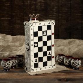 "Штоф ""Шахматы"" с рюмками от 1 350 руб"