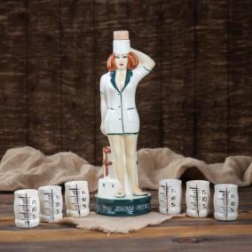 """Штоф """"Медсестра"""", с рюмками от 1 200 руб"""