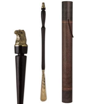 """Рожок для обуви """"Орел"""" большой, 68 см (латунь, венге) в тубусе от 5 400 руб"""