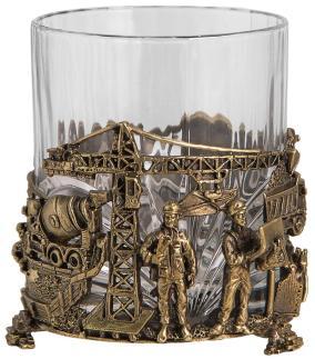 "Бокал для виски ""Строители"" (хрусталь, бронза), 280 мл от 7 900 руб"