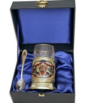 """Набор для чая руководителю """"Лев: Сила, Воля, Власть, Мудрость"""" (цветной) в деревянном футляре от 5 200 руб"""