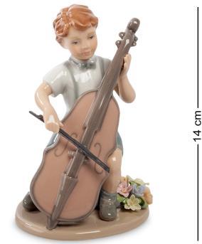 """Статуэтка фарфоровая """"Мальчик с виолончелью"""" 14 см от 3 150 руб"""