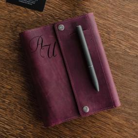"""Кожаный органайзер на кольцах А6 """"Major Garnet"""" с гравировкой от 4 500 руб"""