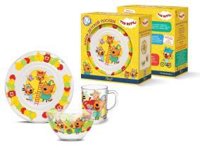 Набор детской посуды Priority КРС-970 Три кота от 649 руб