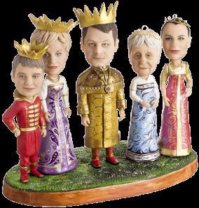 Статуэтка семье по фото «Царевичи-королевичи», 20 см. от 59 000 руб