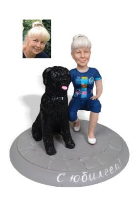 """Портретная статуэтка бабушке """"С любимчиком"""", 30 см. от 31 800 руб"""